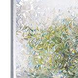 LMKJ Color 3D sin Pegamento Ventana de privacidad estática vidrieras película de Arco Iris película autoadhesiva Vidrio UV película de Vidrio para el hogar A59 45x200cm