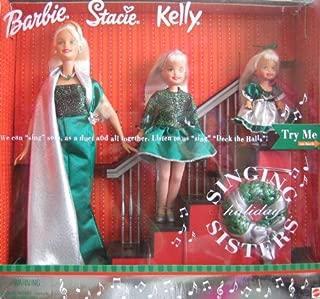 "Holiday Singing Sisters Barbie Stacie Kelly Dolls ""Sing""""De"