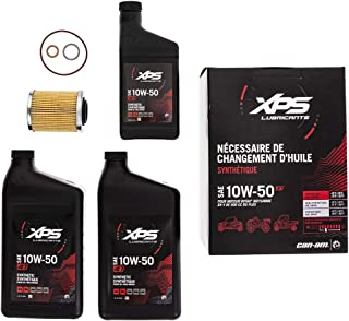 Can Am Maverick Commander Defender 10w50 full synthetic oil change kit #779252