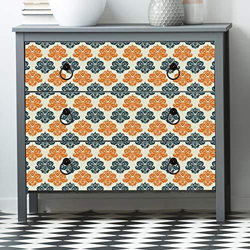 DesignDivil Självhäftande kungliga skärp matt vinyl luftuthämtning möbelklistermärke omslag. UC010 (stor 2,5 x 71 cm x 55,8 cm)