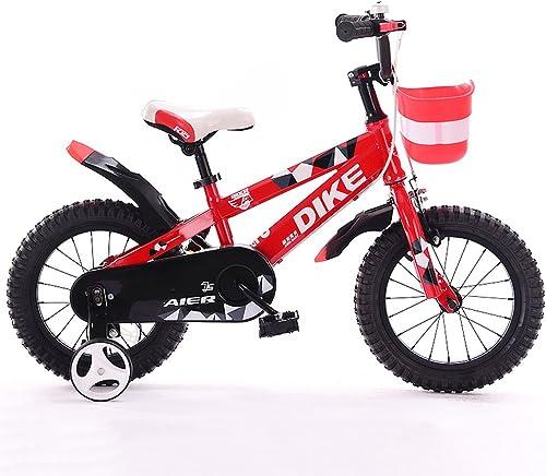 marcas de diseñadores baratos Fenfen Fenfen Fenfen Bicicletas para Niños 12 14 16 inch 2-5-8 años Niños y niñas Niños Bicicleta Triciclo rojo (Talla   12inches)  forma única
