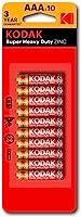 Kodak Super Heavy Duty AAA 10 Pack Zinc Batteries (30410589)