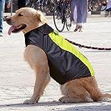 Ezer Waterproof Dog Coat, Soft Fleece Lining High Visibility Reflective Pet Jacket for Cold Weather, Outdoor Sports Dog Raincoat Snowsuit Apparel (XXXL)
