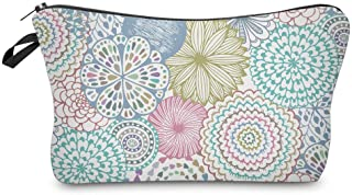 Cosmetic Bag for Women,Deanfun Mandala Flowers Waterproof Makeup Bags Roomy Toiletry Pouch Travel Accessories Gifts (51561)