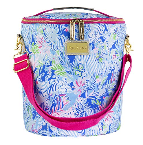Lilly Pulitzer Insulated Soft Beach Cooler with Adjustable/Removable Strap and Double Zipper Close, Lion Around