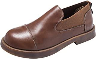 Natarura Women's Girls' Slip On Loafers Breathable Round Toe Flats and Fashion Lady's Casual Shoes