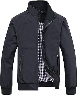 PERDONTOO Men's Casual Jacket Outdoor Windbreaker Lightweight Bomber Jackets