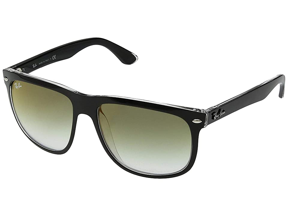 Ray-Ban RB4147 Boyfriend 60mm (Top Black/Transparent/Green Gradient) Fashion Sunglasses