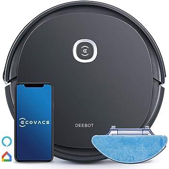 ECOVACS Deebot U2 PRO (nuova versione di D605)robot aspirapolvere e lavapavimenti, accessorio per animali domestici incluso, fino a 150 min di attività, controllo tramite app, Alexa