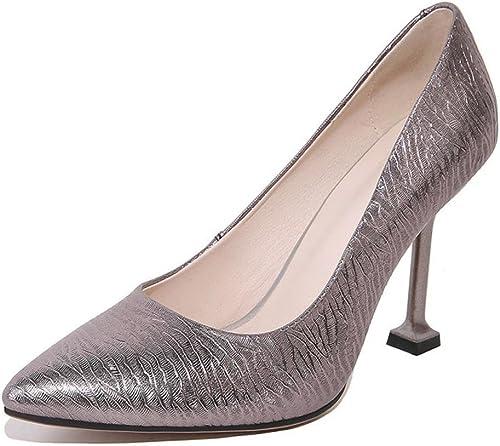 Femmes Tribunal Chaussures Cheville Pointu Doigt de pied Stylet Haute Talons rouge argent Mode Robe Fête Pompes Grand Taille 35-44
