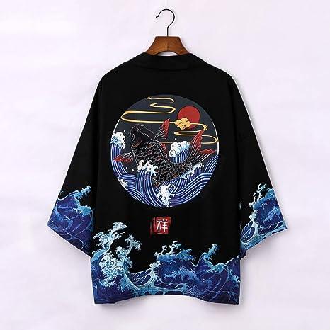 FLY FLU Hombres Vintage Japonés Kimono, Kimono ...