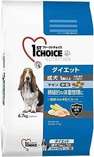 ファーストチョイス ドッグフード 成犬 1歳以上 ダイエット 去勢・避妊した愛犬 中粒 チキン 6.7kg