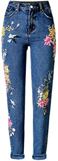 Women's Hi Rise Embroidery Crop Jeans