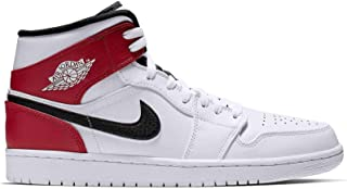 Jordan 1 Mid White/Black-Gym Red (GS) (4.5 D(M) US)