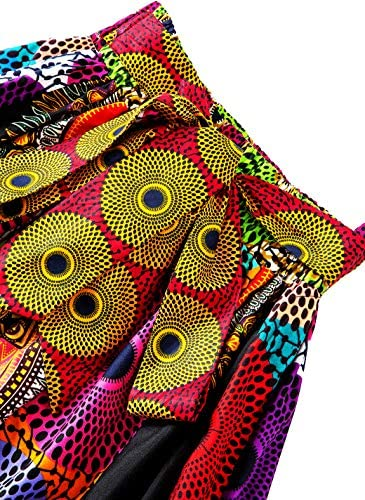 African print high waist skirt _image0