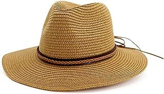 Puedo Sombrero de Paja para Mujer con ala Grande para el Sol y la Playa, Plegable, para Mujeres y niñas