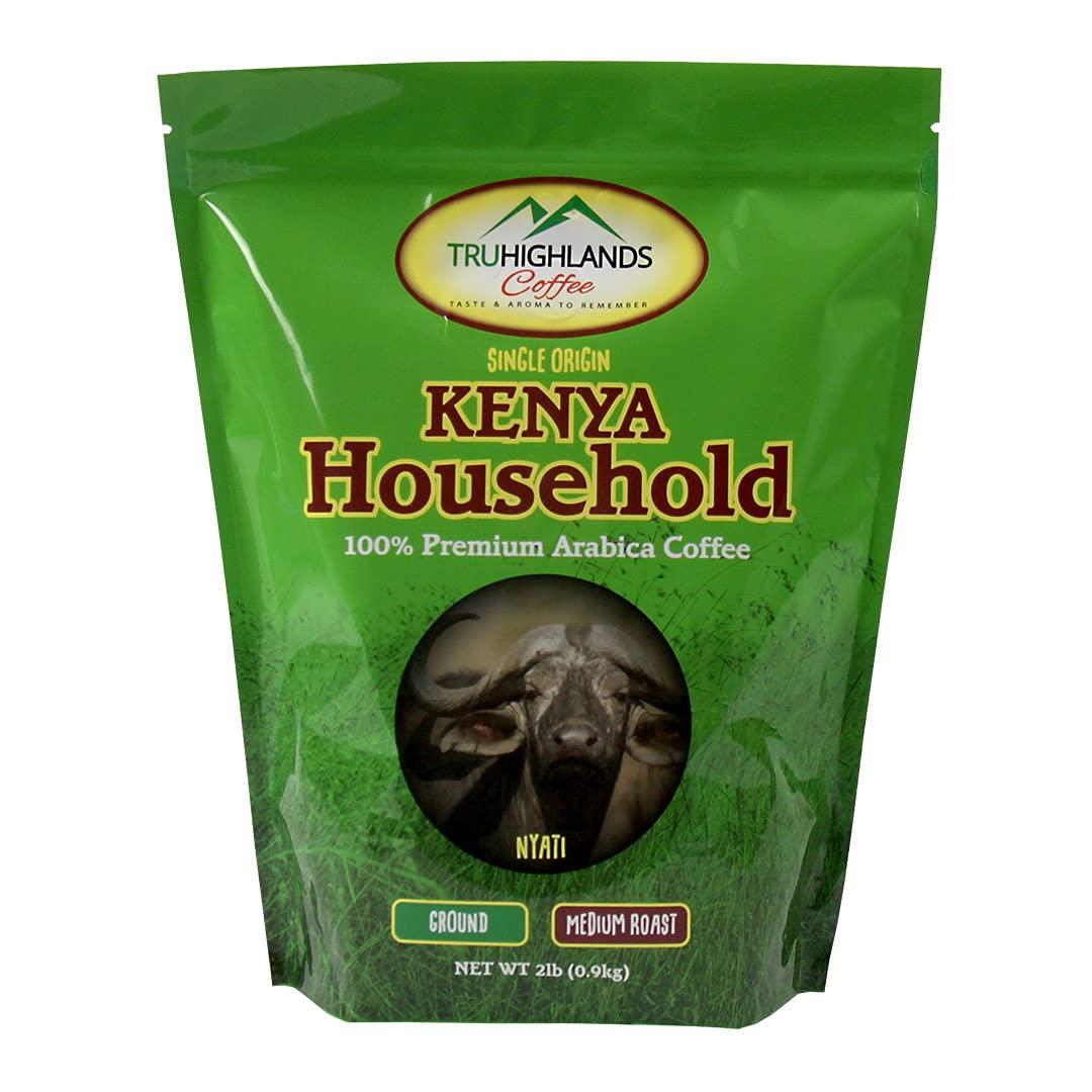TruHighlands Coffee Popular overseas Kenya Max 64% OFF Household Medium Roast - Premium Groun