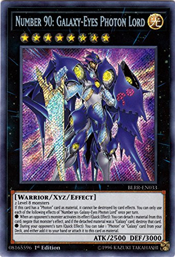 Number 90: Galaxy-Eyes Photon Lord - BLRR-EN033 - Secret Rare - 1st Edition