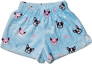 iscream Big Girls Silky Soft Plush Fleece Shorts - Kawaii Besties Collection