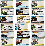 alles-meine.de GmbH 20 STK. Sticker für Hefte - Hot Wheels - Auto - Heftetiketten für den Namen - Etiketten Schulheft Aufkleber Heft - für Jungen - Hotwheels - Fahrzeuge - Namens..