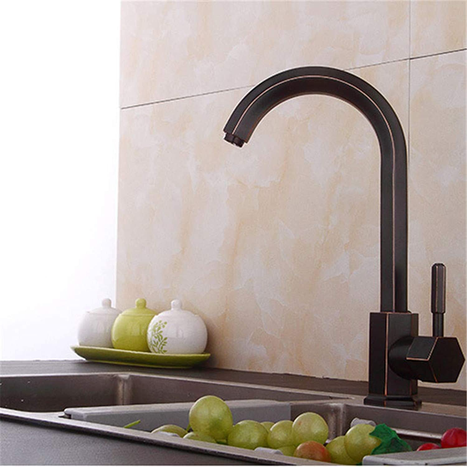 Decorry The New European-Style Kitchen Faucet Hot and Cold Vegetables Basin Faucet Single Hole Faucet DishS65-UE6589321680