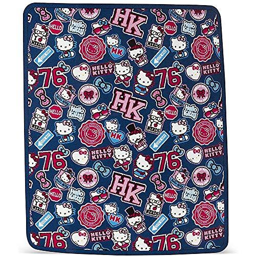DSFA Sanrio Hello Kitty Patchwork Raschel Blanket Throw Plush Talla única para Todas Las Edades
