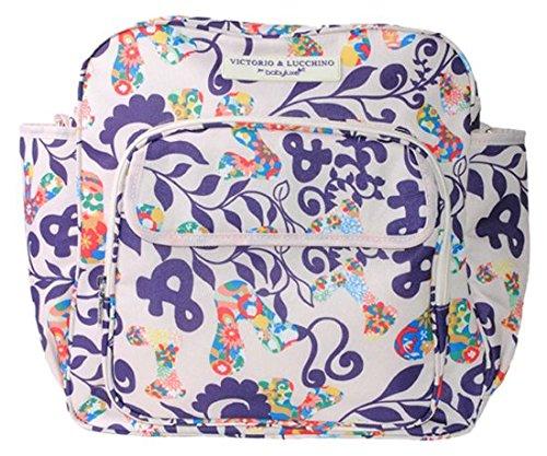 BabyAce Bolso de Mamá - Estampado de diseñador Victorio & Lucchino, color blanco
