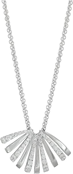 Ventaglio White Gold Medium Pendant with Diamonds