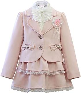 入学式 女の子 スーツ 子供服 5点セット フォーマルスーツ 女児 子供スーツ [リトルリード] LITTLE LEAD 43007
