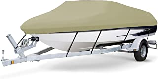 7 oz Solution Dyed Polyester Khaki, Styled to FIT Boat Cover for BAYLINER 195 Classic RUNABOUT 2004-2005