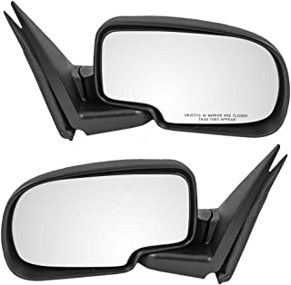 Manual Side View Mirrors Driver and Passenger Replacements for Chevrolet GMC Pickup Truck SUV 5876714 25876715