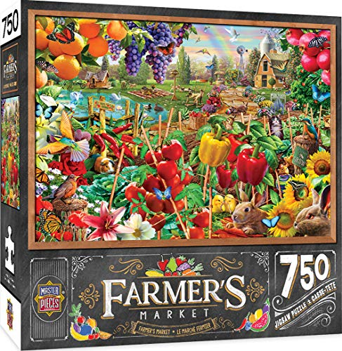 MasterPieces Farmer's Market Jigsaw Puzzle, A Plentiful Season, 750 Pieces