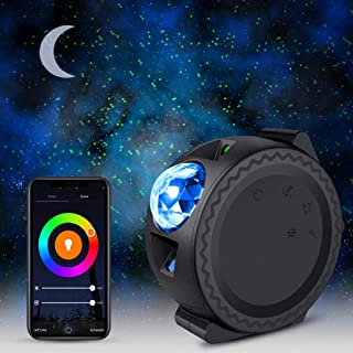 Star Projector, Delicacy 3 in 1 Ocean Wave Light Moon Starry Sky Night light Projector with WiFi Smart App Control,Touch &Voice Control Rotating LED Nebula Cloud for Kids Adults Bedroom Decoration