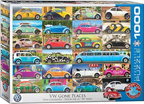 EuroGraphics 6000-5422 VW Beetle Gone Places rompecabezas , color/modelo surtido