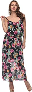 Made In Italy Black Polyester Casual Dress For Women