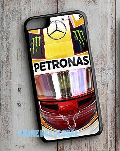 NIEUWE 2017 DESIGN LEWIS HAMILTON HELMET F1 APPLE IPHONE CASE COVER Past bij IPHONE 7 ZWART Kast