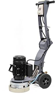 XtremepowerUS 10-inch Walk-Behind Electric Concrete Floor Grinder 1.5HP Dust Extraction Angle Adjustable Handle Height