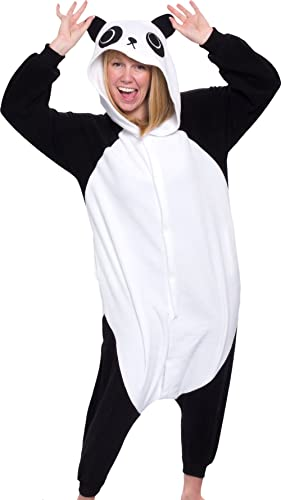 Silver Lilly Adult Panda Bear Costume - One Piece Pj - Cosplay