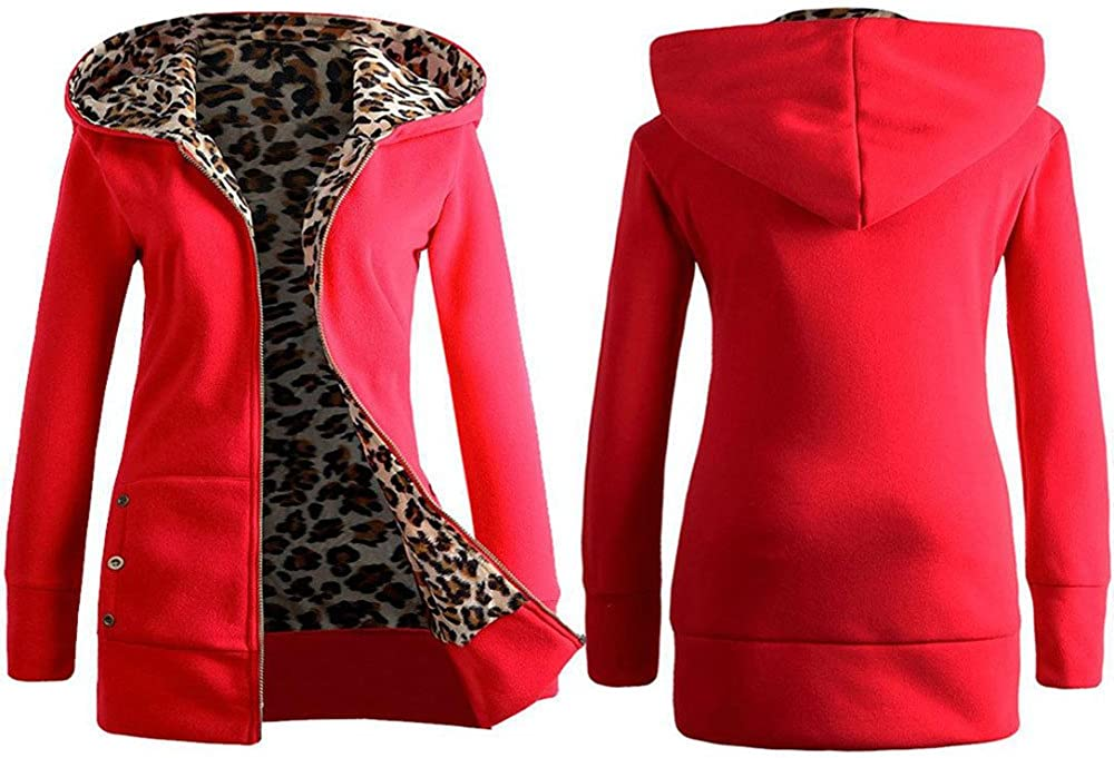XUETON Women Long Ranking online shopping TOP13 Sleeve Plus Size Hoode Coat up Zip Jacket Warm