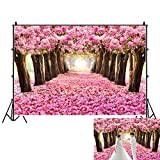OFILA Spring Flowers Blossoms Backdrop 10x6.5ft Tea Party Decoration Enchanted Garden Theme Baby Shower Party Girls Princess Birthday Portraits Wedding Photos Background Valentine's Day Backdrop