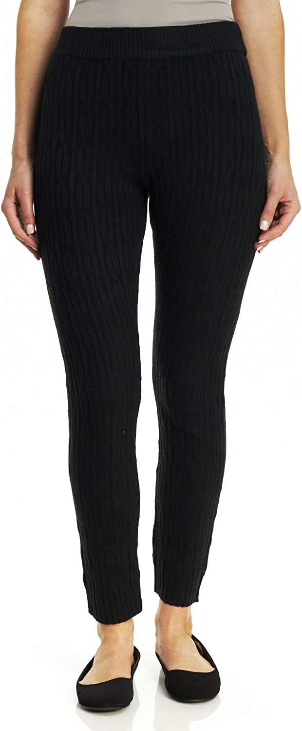 Hue Women's Cable Sweater Relaxed Leggings