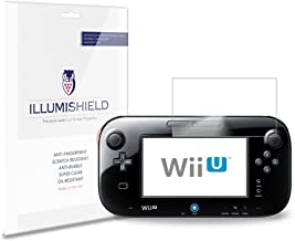 iLLumiShield Screen Protector Compatible with Nintendo Wii U Gamepad (3-Pack) Clear HD Shield Anti-Bubble and Anti-Fingerprint PET Film