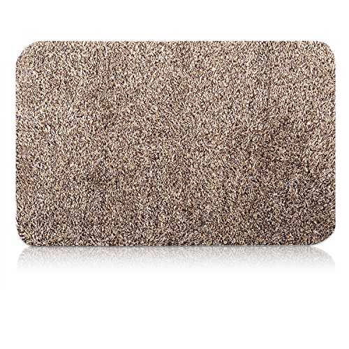 Indoor Doormat Super Absorbs Mud Mat 47'x 28' Latex Backing Non Slip Door Mat for Front Door Inside Floor Dirt Trapper Mats Cotton Entrance Rug Shoes Scraper Machine Washable Rug Carpet Large