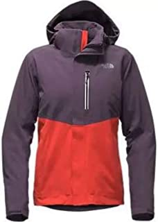 The North Face Women Apex Flex GTX Insulated Jacket All Weather Proof/Dark Eggplant Purple/Fire Brick Red Size MEDIUM