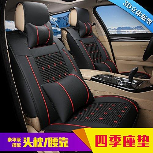 Odeer Autokussen, zeer elastisch nylon, intrekbaar, comfortabele ondersteuning aan beide zijden, autostoelhoofdsteun, nekkussen