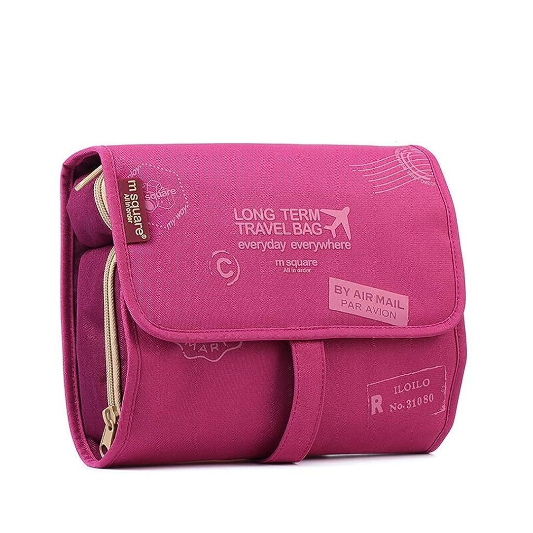 開発うまれた守る旅行収納ウォッシュバッグ、大型化粧品バッグ大容量女性男性ポータブル旅行ビジネス-23.5 * 6 * 18 cm(カラー:4)