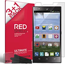REDShield Compatible with ZTE Lever Z936L Screen Protectors 3 Pack + 1 Free, Crystal Clear HD Screen Protector; Anti-Scratch, Easy to Apply.