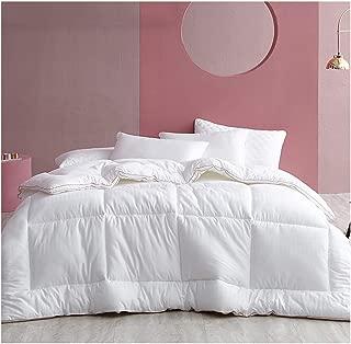 LXLTL Duvet 100% Broad Bean Fiber Autumn and Winter Bedding Polyester Quilt Thicken Stitched Duvet Cotton Quilt Single/Double,White,220x240cm(4.5kg)
