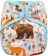 OsoCozy One Size Cloth Diaper Covers - Adjustable Fit From 8-35 Pounds