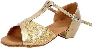 ZEVONDA New Latin Dance Shoes with Shine Sequin Vamp for Girls/Ladies 24-40